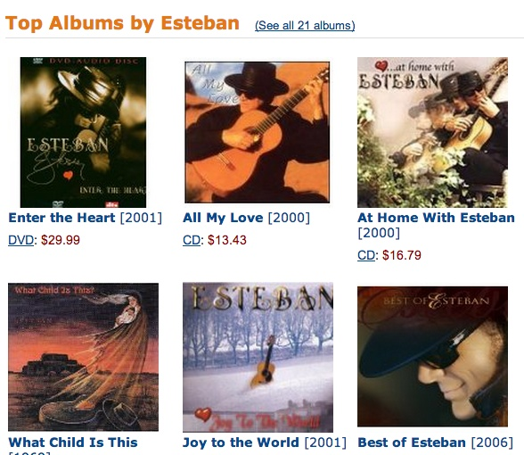 Click to find all the albums by renowned classical guitarist Esteban, aka Stephen Paul