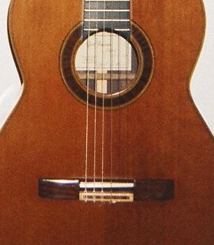 Gert Petersen 1997 cedar top classical guitar