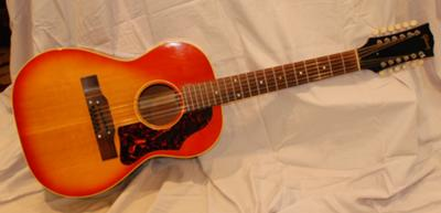 Gibson Acoustic Guitar, B25-12, 1964: Full View