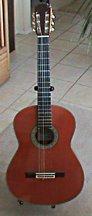 Full view of Pimentel Grand Concert guitar