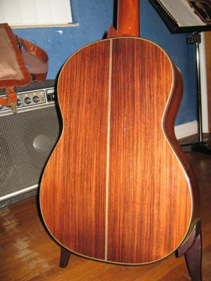 1975 Haselbacher Cedar Top back view