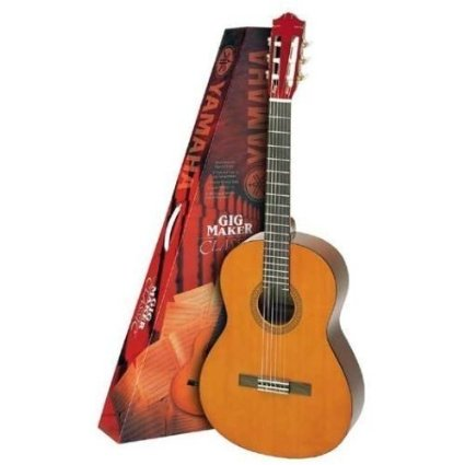 At one end of the scale, companies like Yamaha produce good-sounding classical guitars for beginners, like this C40 Gigmaker Kit